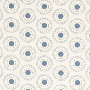 Clarke and Clarke Astrid Ebba Sky Curtain Fabric