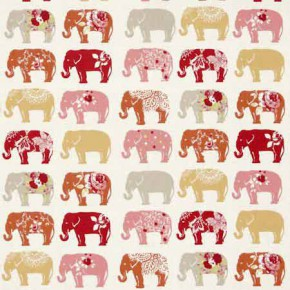 Clarke and Clarke Blighty Elephants Spice Curtain Fabric