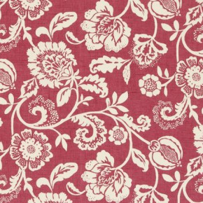 Clarke and Clarke Genevieve Eliza Raspberry Curtain Fabric