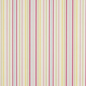 Clarke and Clarke Nostalgic Prints Ella Stripe Sunshine Roman Blind