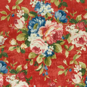 Clarke and Clarke  Colony Emeline Rouge Curtain Fabric