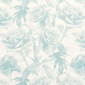 Clarke and Clarke Floribunda Empress Rose Aqua Made to Measure Curtains