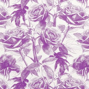 Clarke and Clarke Floribunda Empress Rose Mulberry Made to Measure Curtains