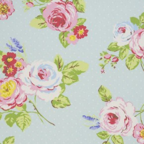 Clarke and Clarke Vintage Classics English Rose Seafoam Made to Measure Curtains