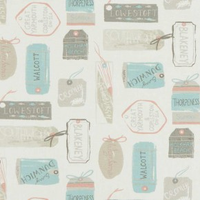 A Land and Sea Explorer Pastel Curtain Fabric