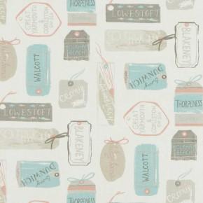 A Land & Sea Explorer Pastel Curtain Fabric