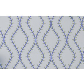 Fiorella Fern Azure Curtain Fabric