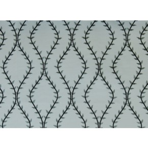 Fiorella Fern Charcoal Curtain Fabric