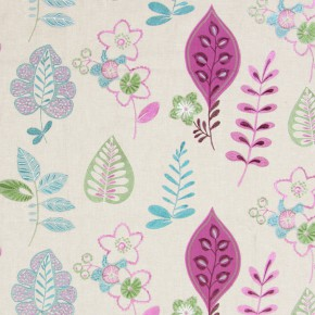 Jamboree Ferris Damson Curtain Fabric