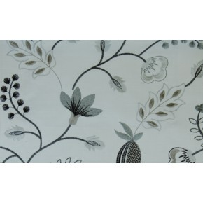 Fiorella Fiorella Charcoal Curtain Fabric