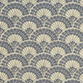 Clarke and Clarke Bloomsbury Fitzvroy Midnight Curtain Fabric