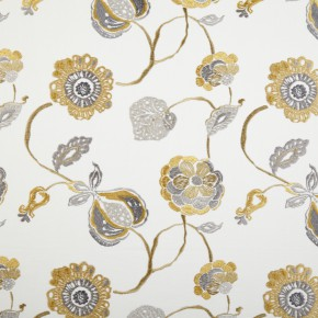 Prestigious Textiles Secret Garden Flora Ocre Curtain Fabric