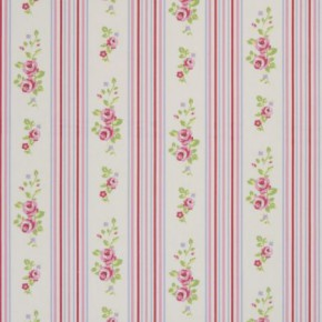 Clarke and Clarke Vintage Classics Floral Stripe Chintz Roman Blind