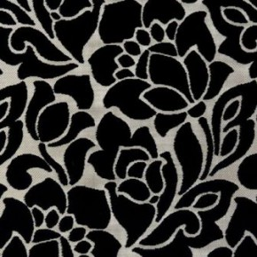Clarke and Clarke Academy Velvets Florentine Ebony Curtain Fabric