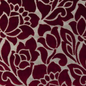 Clarke and Clarke Academy Velvets Florentine Garnet Made to Measure Curtains