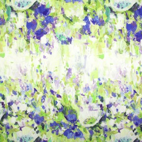 Printworks Flower Garden Indigo Made to Measure Curtains