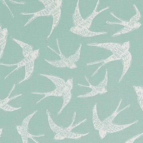 A Land and Sea Fly Away Mineral  Curtain Fabric