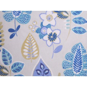 Linden Folia Vintage Blue Made to Measure Curtains