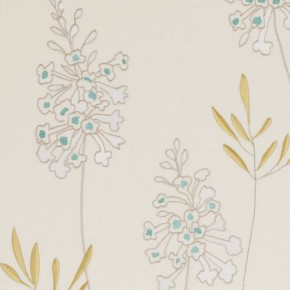 Clarke and Clarke Wild Garden Foxglove Aqua Curtain Fabric