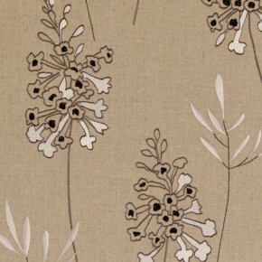 Clarke and Clarke Wild Garden Foxglove Charcoal Made to Measure Curtains