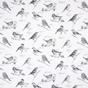 Country Fair Garden Birds Graphite Curtain Fabric
