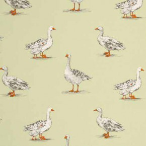 Clarke and Clarke Blighty Geese Sage Curtain Fabric