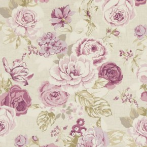 Clarke and Clarke Genevieve Clarke and Clarke Genevieve Mulberry Curtain Fabric