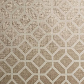 Spectrum Geo Latte Curtain Fabric