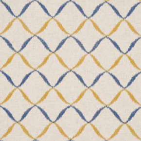 Clarke and Clarke Gustavo Gina Indigo Curtain Fabric