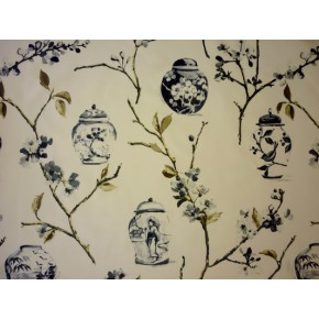 DrawingRoom Ginger Jars Onyx Curtain Fabric