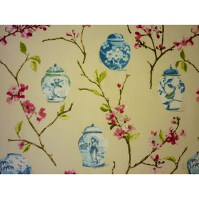 DrawingRoom Ginger Jars Rose Curtain Fabric
