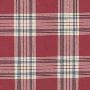 Clarke and Clarke Glenmore Clarke and Clarke Glenmore Red Curtain Fabric