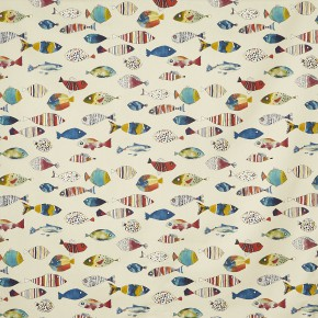 A Prestigious Textiles Beachcomber Gone Fishing Tropical Made to Measure Curtains