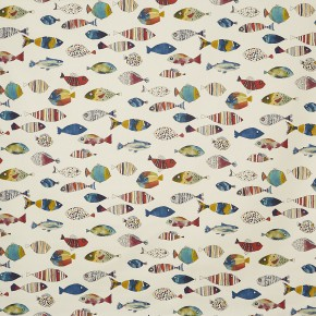 A Prestigious Textiles Beachcomber Gone Fishing Vintage Curtain Fabric