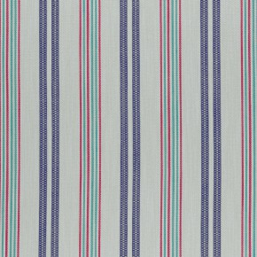 Clarke and Clarke  Colony Grenada Indigo/Raspberry Curtain Fabric