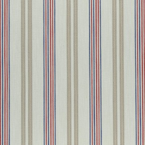 Clarke and Clarke  Colony Grenada Taupe/Rouge Curtain Fabric