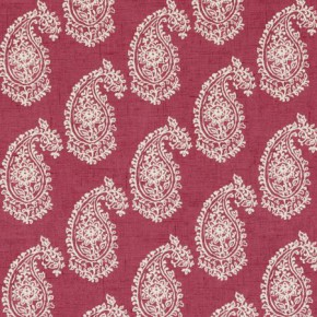 Clarke and Clarke Genevieve Harriet Raspberry Curtain Fabric