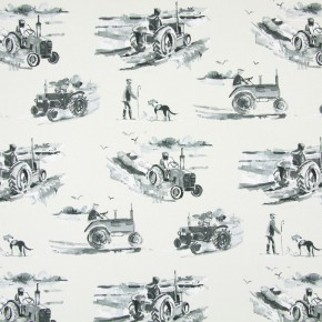 Country Fair Harvest Charcoal Curtain Fabric