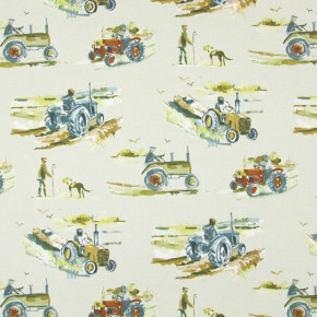Country Fair Harvest Linen Roman Blind