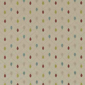 Clarke and Clarke Richmond Healey RaspberryDuckegg Curtain Fabric