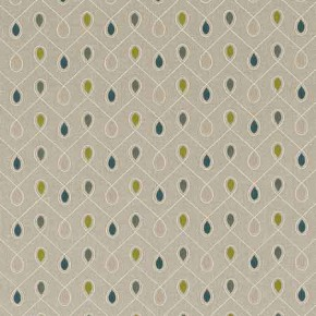 Clarke and Clarke Richmond Healey TealAcacia Curtain Fabric
