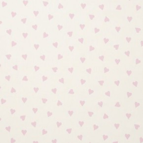 Clarke and Clarke Sketchbook Hearts Pink Curtain Fabric