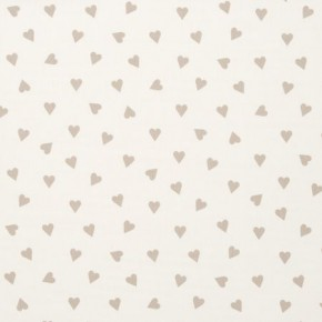 Clarke and Clarke Sketchbook Hearts Taupe Curtain Fabric
