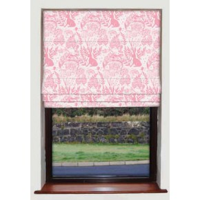 Hedgerow Pink Roman Blind