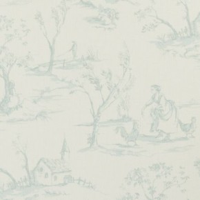 Clarke and Clarke Clarisse Helena Duckegg Curtain Fabric