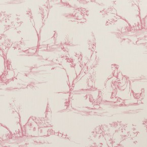 Clarke and Clarke Clarisse Helena Raspberry Curtain Fabric