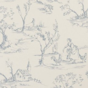 Clarke and Clarke Clarisse Helena Wedgewood Curtain Fabric
