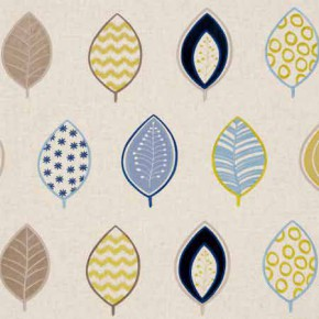 Clarke and Clarke Gustavo Henrika Indigo Curtain Fabric