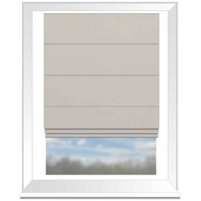 Clarke and Clarke Altea Ivory Roman Blind