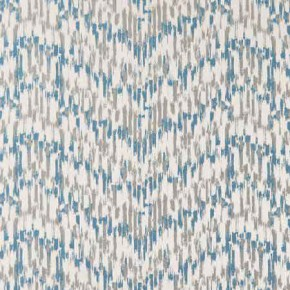 Clarke and Clarke Chateau Jardin Aqua Curtain Fabric